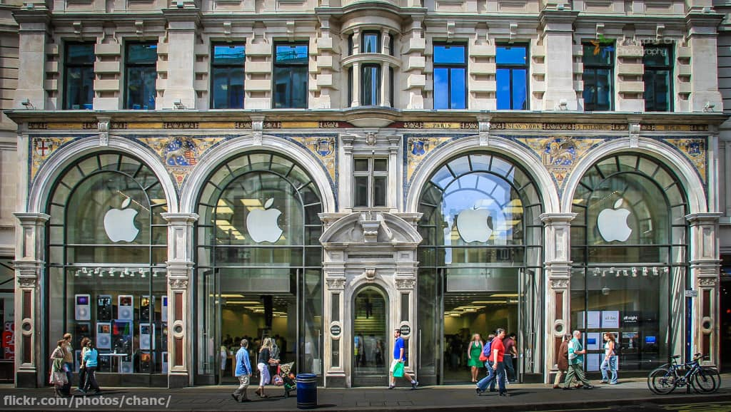 The 10 biggest apple stores in the world 2018 update applestoreregentstreetinlondon image flickrchanc before the apple store gumiabroncs Gallery