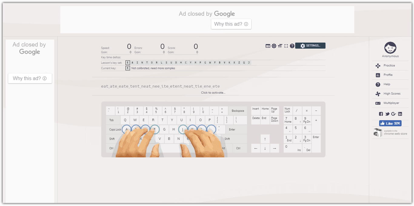 keybrcom best typing tutor site