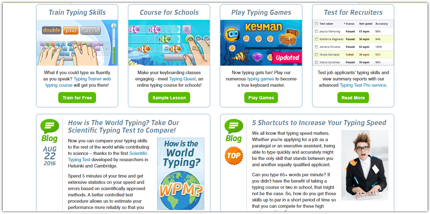 typingtestcom best typing tutor site