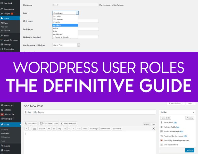 Guide WordPress User Roles: Admin, Editor, Author, Contributor & SEO