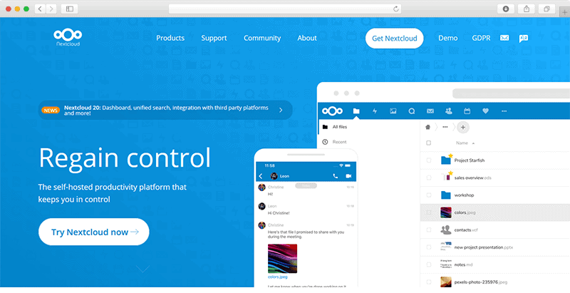 Nextcloudcom Website Screenshot