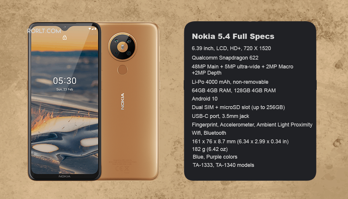 Nokia 5.4 Specs Leaked: with 400 mAh baterry & Snapdragon 662 chip