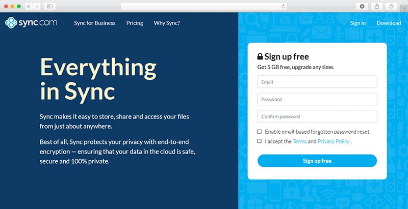 Synccom Website Screenshot